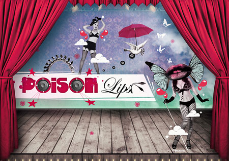 lips wallpaper. quot;Poison Lipsquot; WALLPAPER